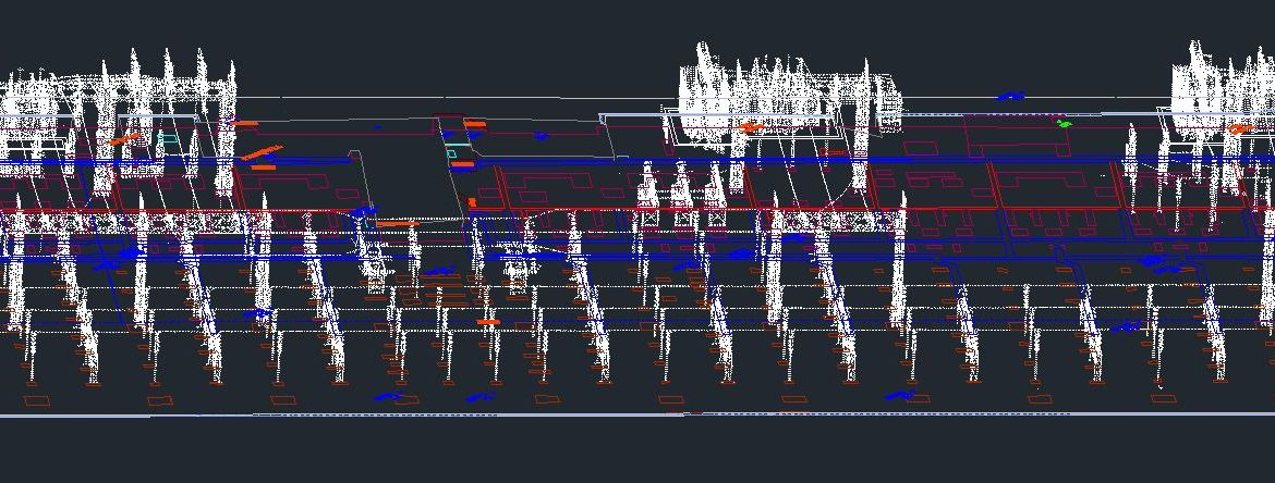 3D substation wireframe model