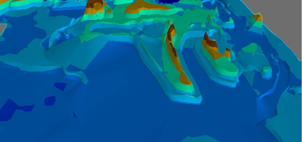 3D map showing water levels over time