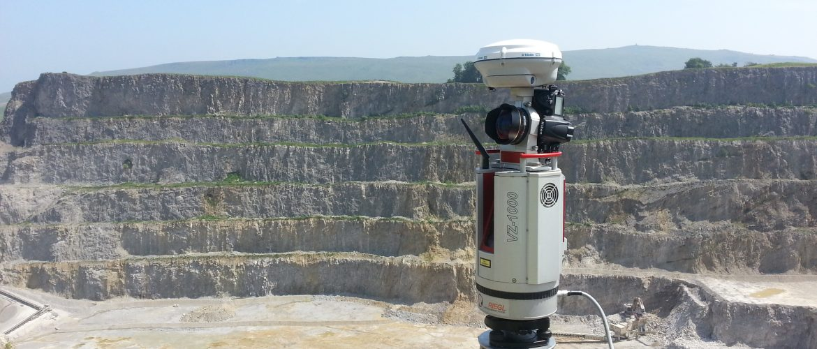 Riegl vz1000 scanner with camera and GPS attachment